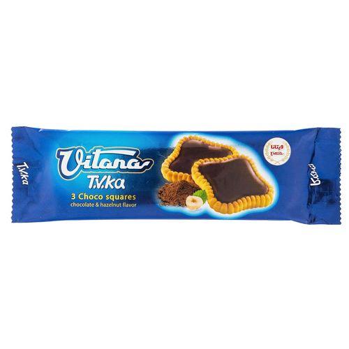 بیسکوییت با روکش شکلات فندقی ویتانا مقدار 40 گرم