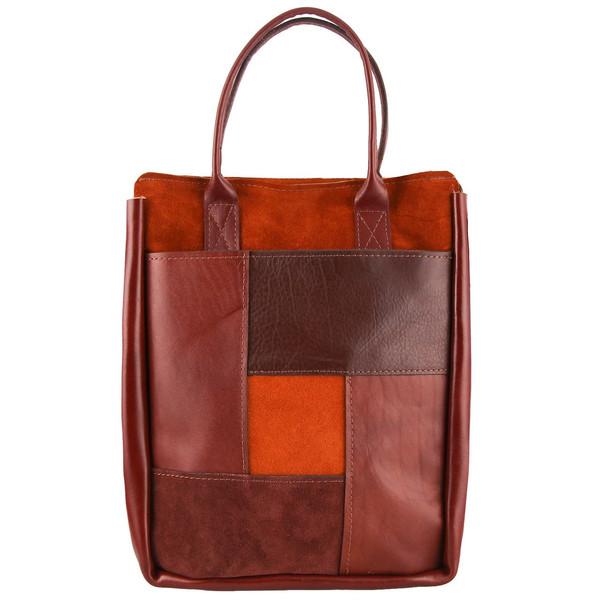 کیف دستی چرم طبیعی گالری ستاک کد 81047