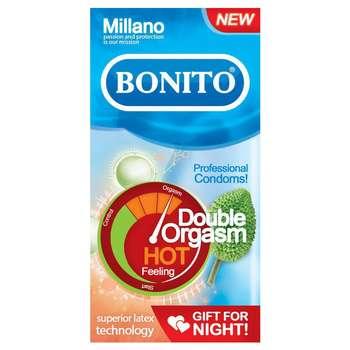 کاندوم بونیتو مدل Hot Double Orgasm بسته 6 عددی