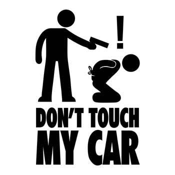 استیکر خودرو ونسونی طرح Dont Touch My Car
