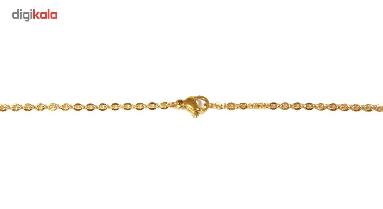 گردنبند آی جواهر طرح زهرا انگلیسی کد ge1100107 -  - 3