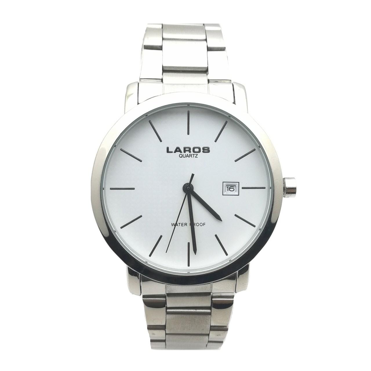 ساعت مچی عقربه ای مردانه لاروس مدل LM-N371-White 1