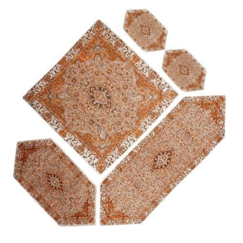 ست 5 تکه رومیزی ترمه یزد طرح چهل ستون