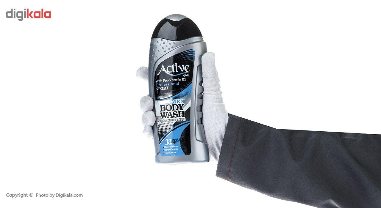 شامپو بدن مردانه اکتیو سری Sport مدل Silver مقدار 400 گرم main 1 3