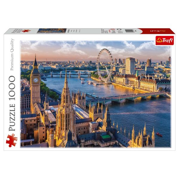 پازل 1000 تکه ی مدل لندن -Trefl.  برابر کیفیت ادوکا، ravensburger, Educa