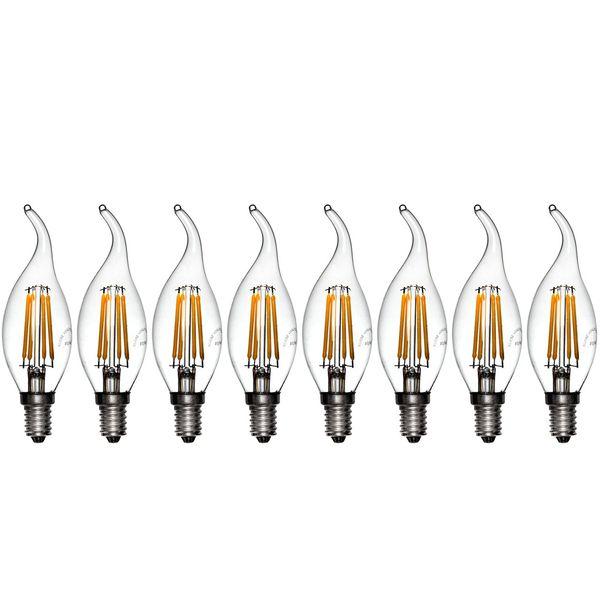 لامپ ال ای دی فیلامنتی 4 وات دیلایت کد 00188x8 پایه E14 بسته 8 عددی