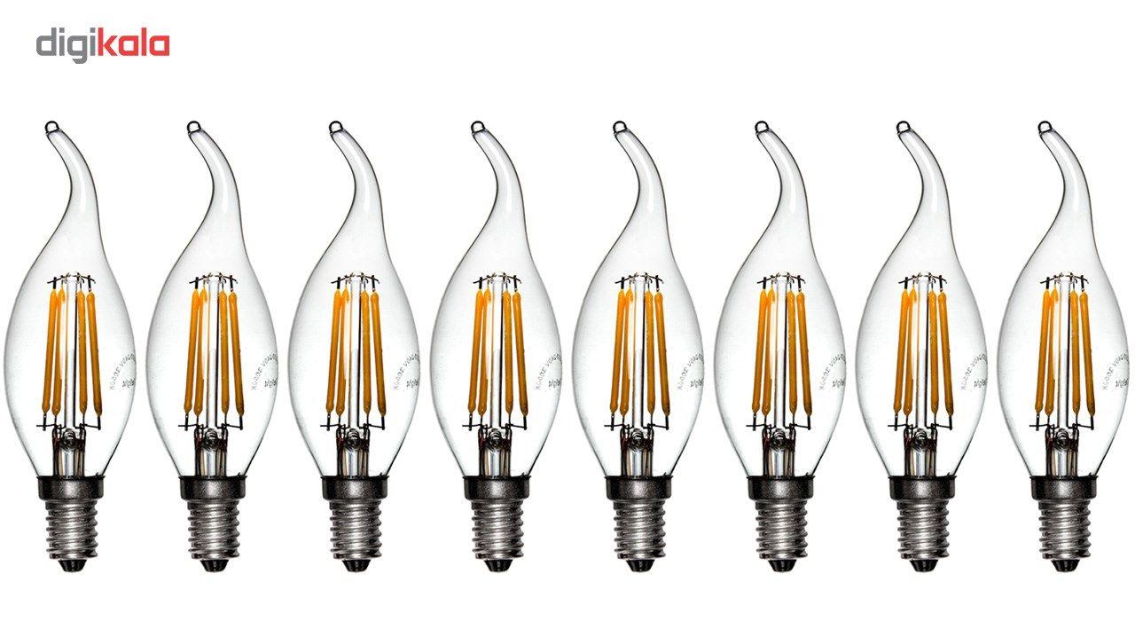 لامپ ال ای دی فیلامنتی 4 وات دیلایت کد 00188x8 پایه E14 بسته 8 عددی  main 1 1