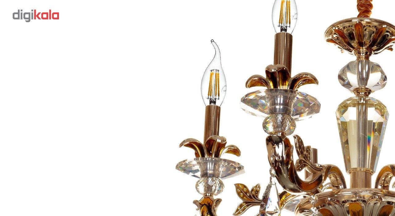 لامپ ال ای دی فیلامنتی 4 وات دیلایت کد 00188x8 پایه E14 بسته 8 عددی  main 1 3