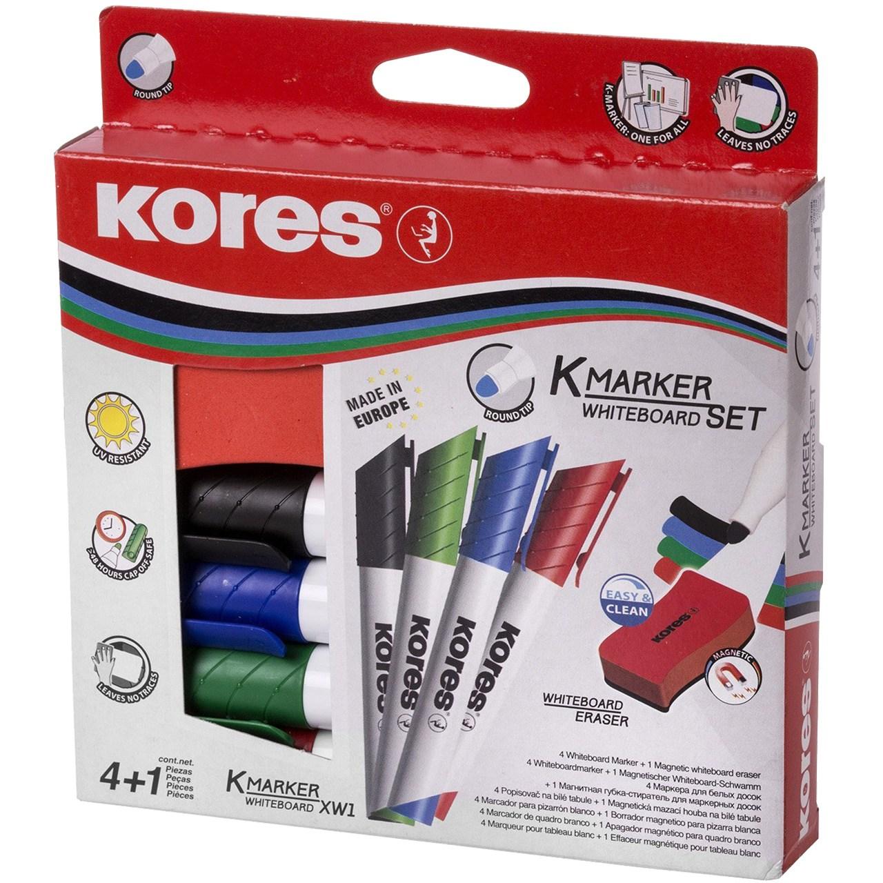 ست ماژیک و تخته پاک کن وایت برد کورس مدل K