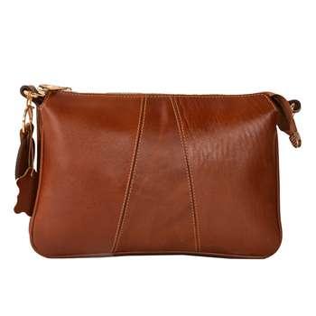 کیف رو دوشی چرم طبیعی کهن چرم مدل V155-1