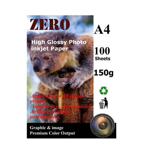 کاغذ ZERO  مدل گلاسه 150 گرم بسته 100 عددی