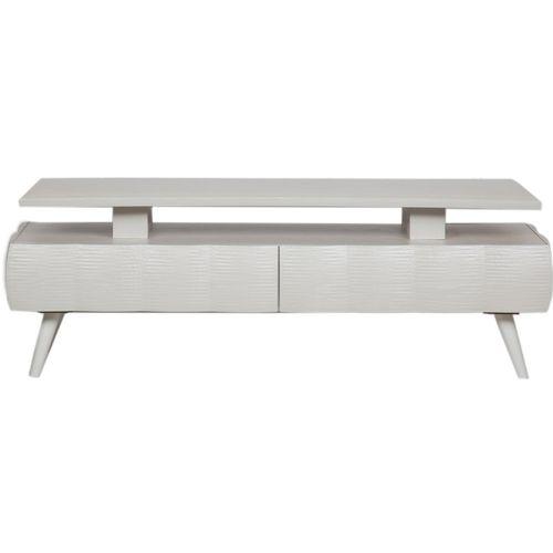 میز تلویزیون کارماچوب مدل M1038 رنگ سفید صدفی