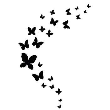 استیکر سالسو طرح black butterfly