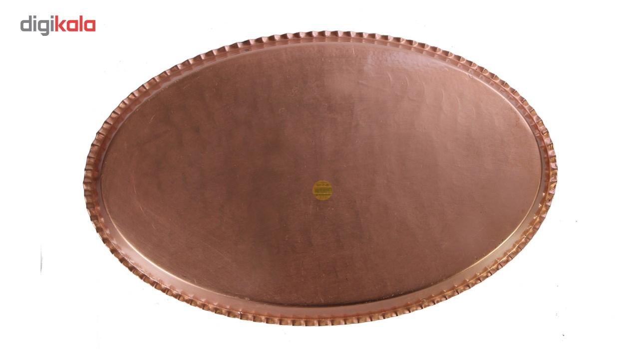 خرید                      سینی مسی طرح بیضی کد ZH17 قطر 36 سانتی متر