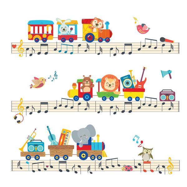 استیکر سالسو طرح Musical Train