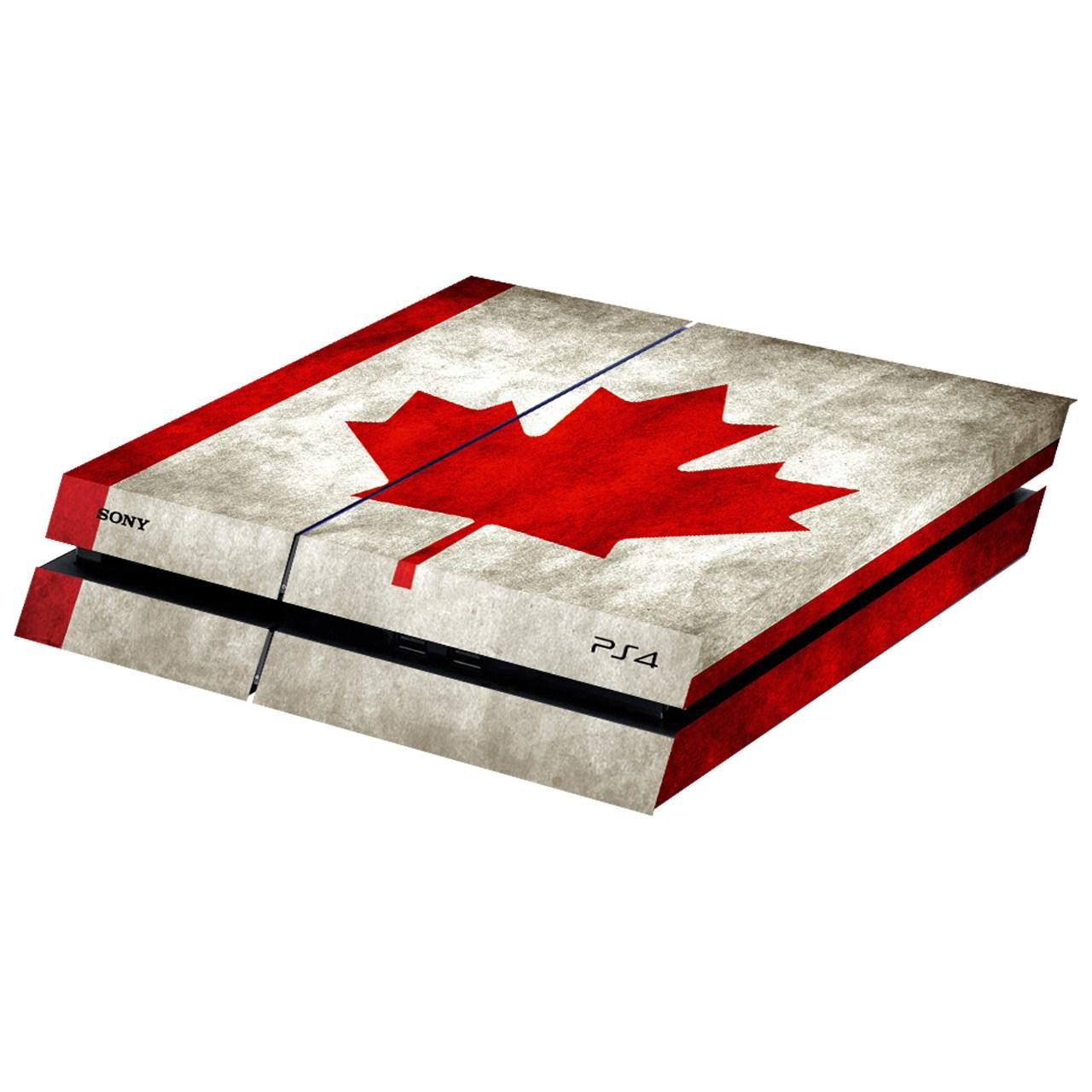 بررسی و {خرید با تخفیف}                                     برچسب افقی پلی استیشن 4 فت گراسیپا طرح کانادا                             اصل
