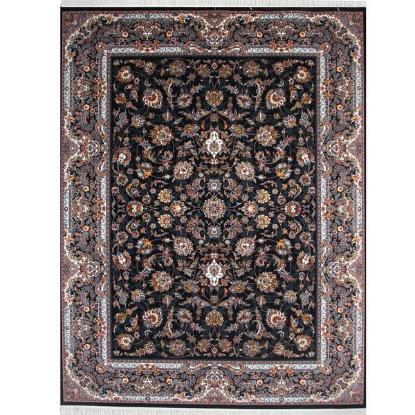 فرش ماشینی پارسه کدFSM134 زمینه سورمه ای