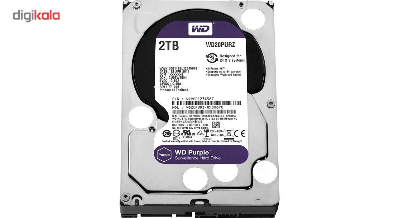 هارددیسک اینترنال وسترن دیجیتال مدل Purple WD20PURZ ظرفیت 2 ترابایت main 1 2
