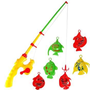 بازی آموزشی ماهیگیری مدل 35962 به همراه یک عدد مجسمه ماهی نمدی طرح wing fish