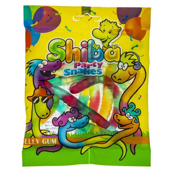 پاستیل میوه ای شیبا مدل Party Snakes مقدار 90 گرم