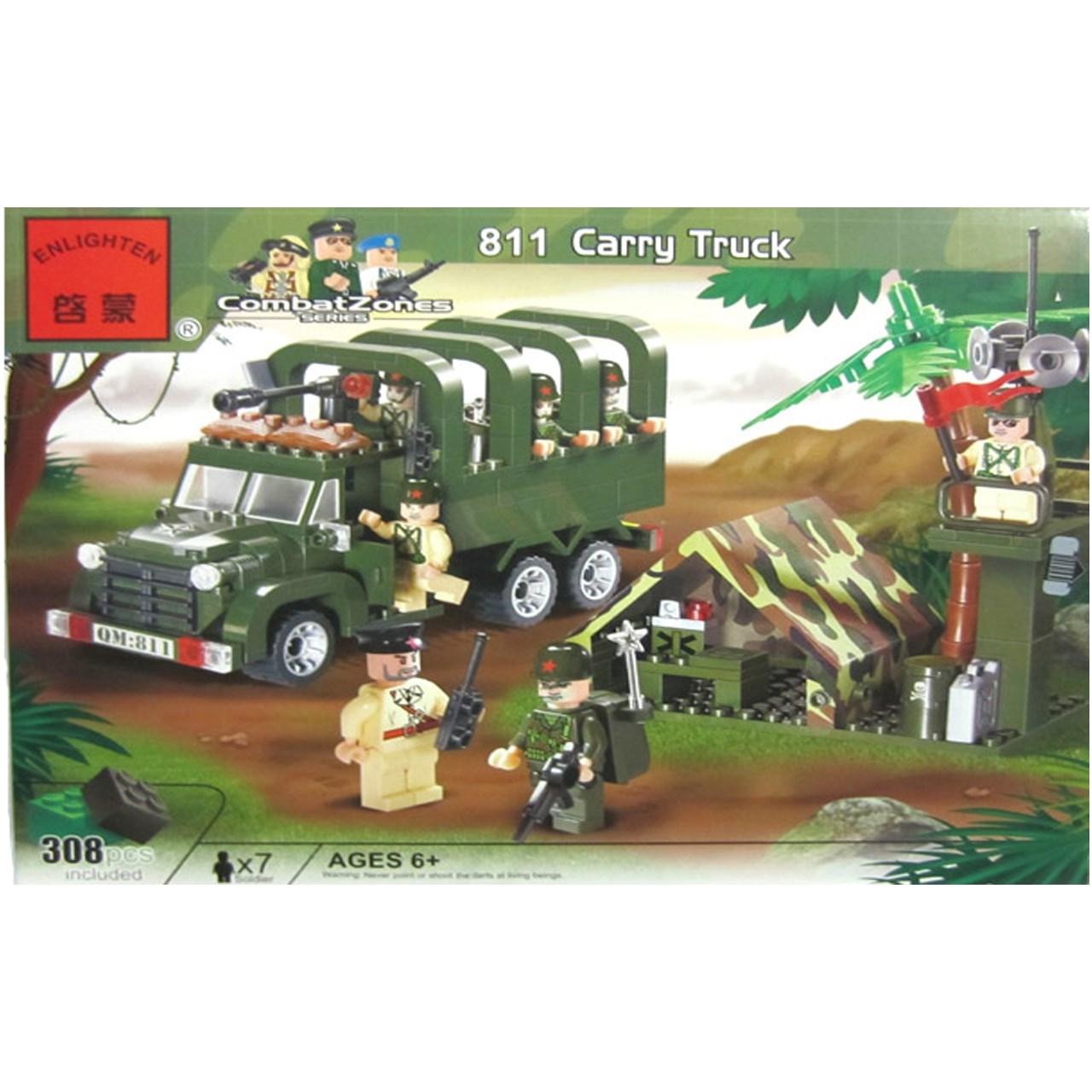 لگو ارتشی انلایتن مدل ۸۱۱ تعداد ۳۰۸ قطعه