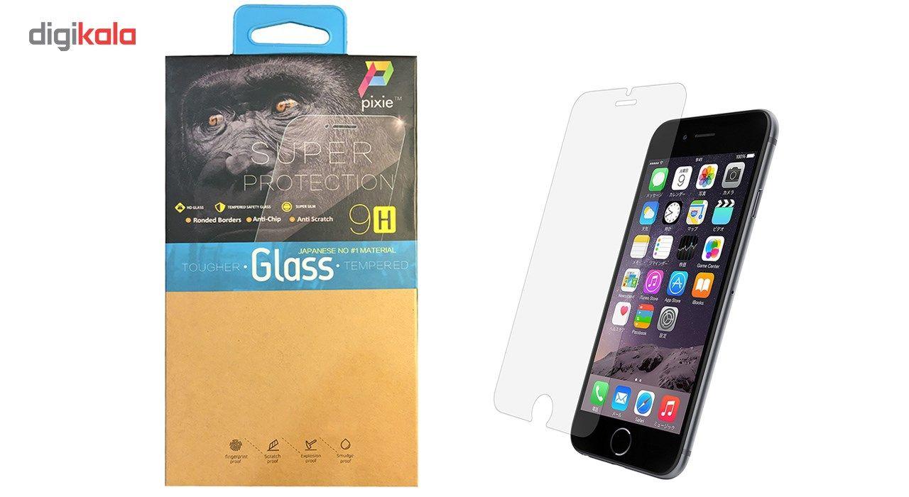 محافظ صفحه نمایش  تمام چسب شیشه ای پیکسی مدل Clear  مناسب برای گوشی اپل آیفون 6/6s main 1 1