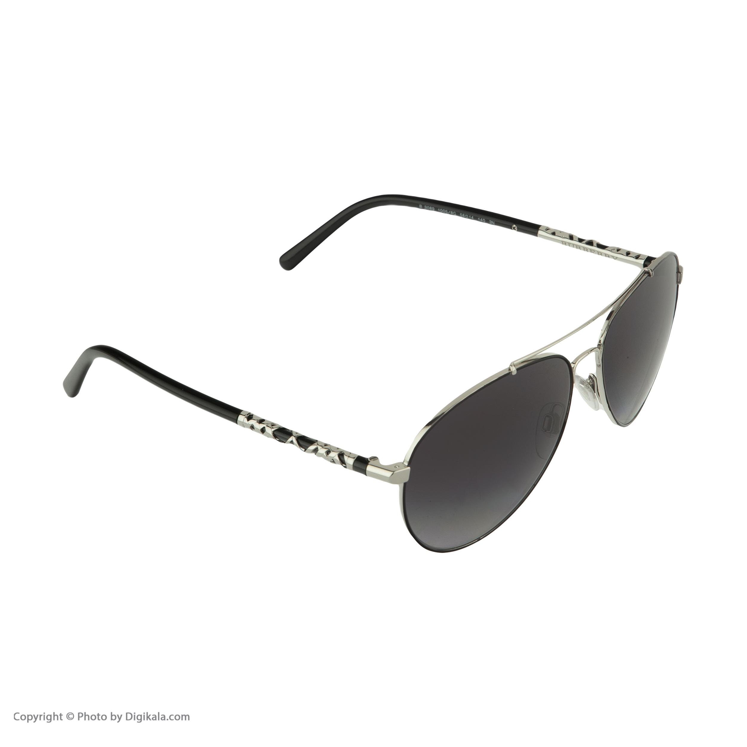 عینک آفتابی زنانه بربری مدل BE 3089S 10058G 58 -  - 4