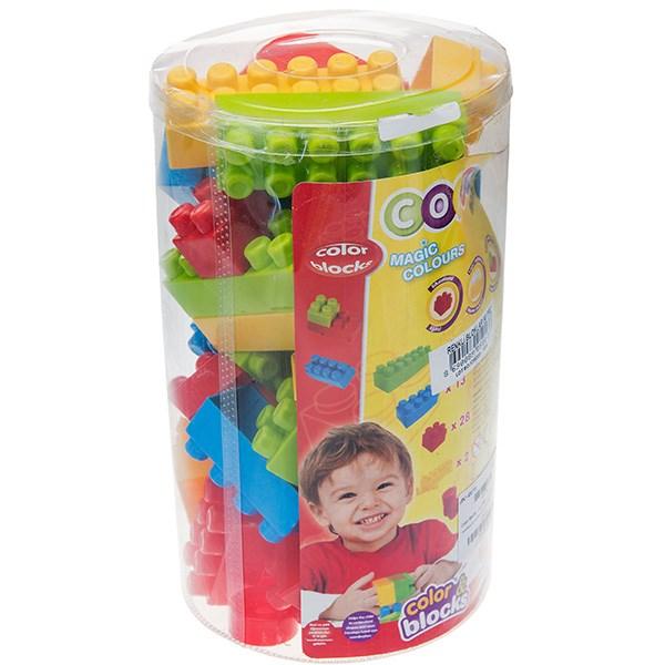 بلوکهای ساختنی 56 تکه دولو  مدل Color Blocks کد 5013