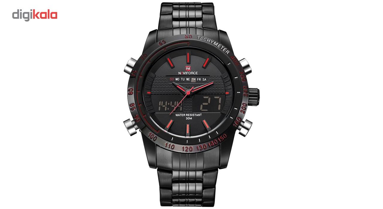 خرید ساعت مچی عقربه ای مردانه نیوی فورس مدل NF9024M/BBR