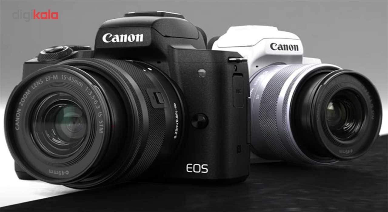 دوربین دیجیتال بدون آینه کانن مدل EOS M50  به همراه لنز 15-45 میلی متر