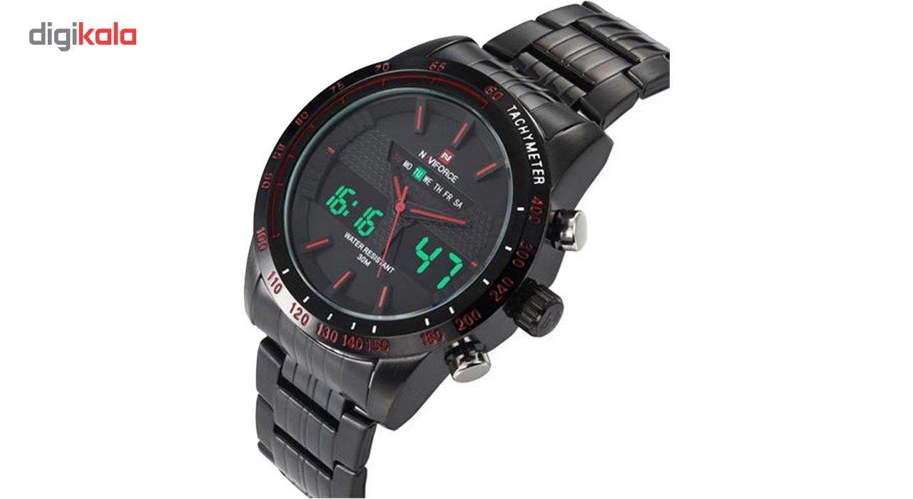 ساعت مچی عقربه ای مردانه نیوی فورس مدل NF9024M/BBR -  - 4