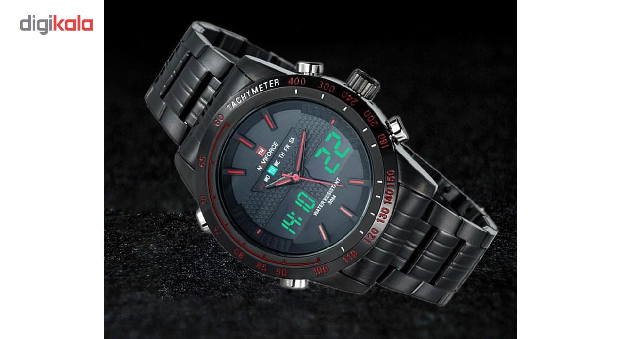 ساعت مچی عقربه ای مردانه نیوی فورس مدل NF9024M/BBR