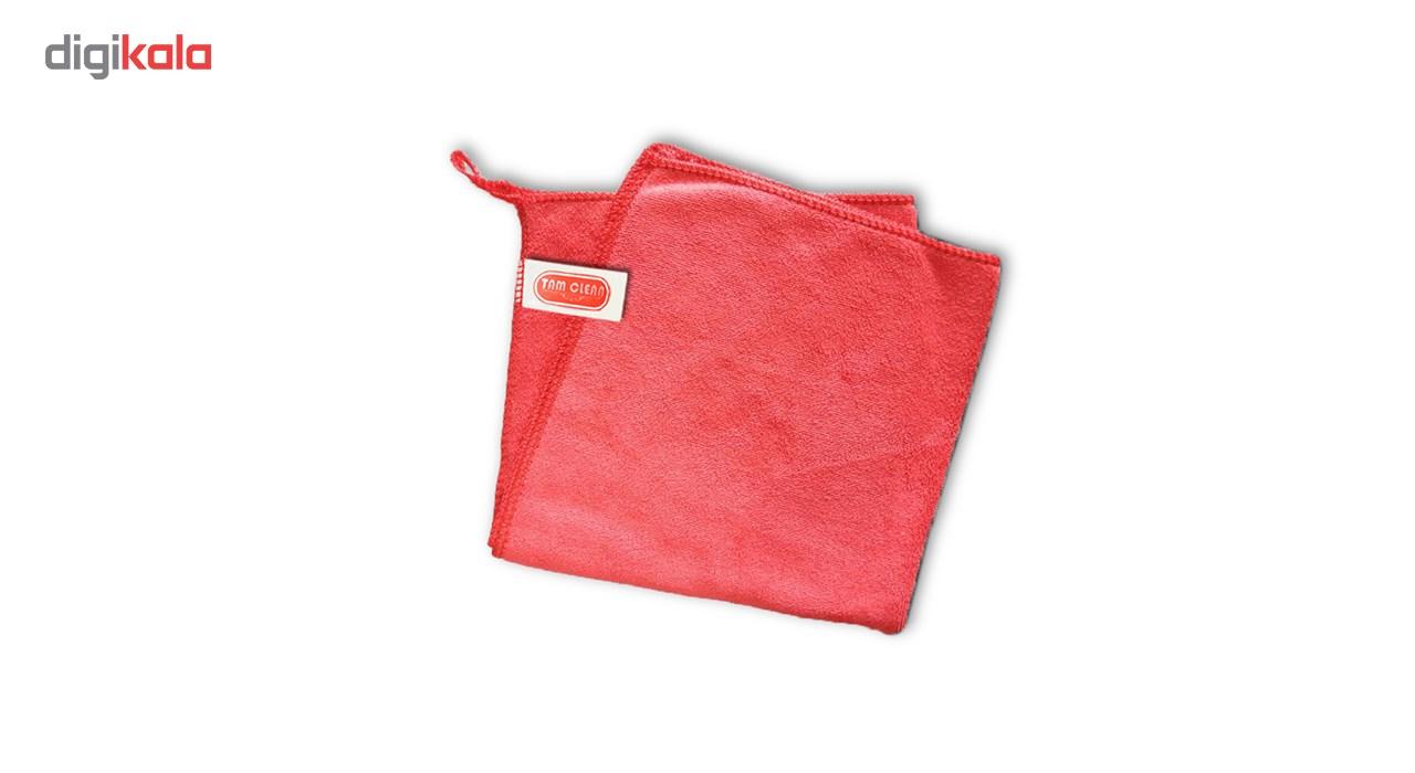 دستمال حوله ای میکروفایبر ضدخش تام کلین مدل Mfl300sx4 بسته 4 عددی main 1 10