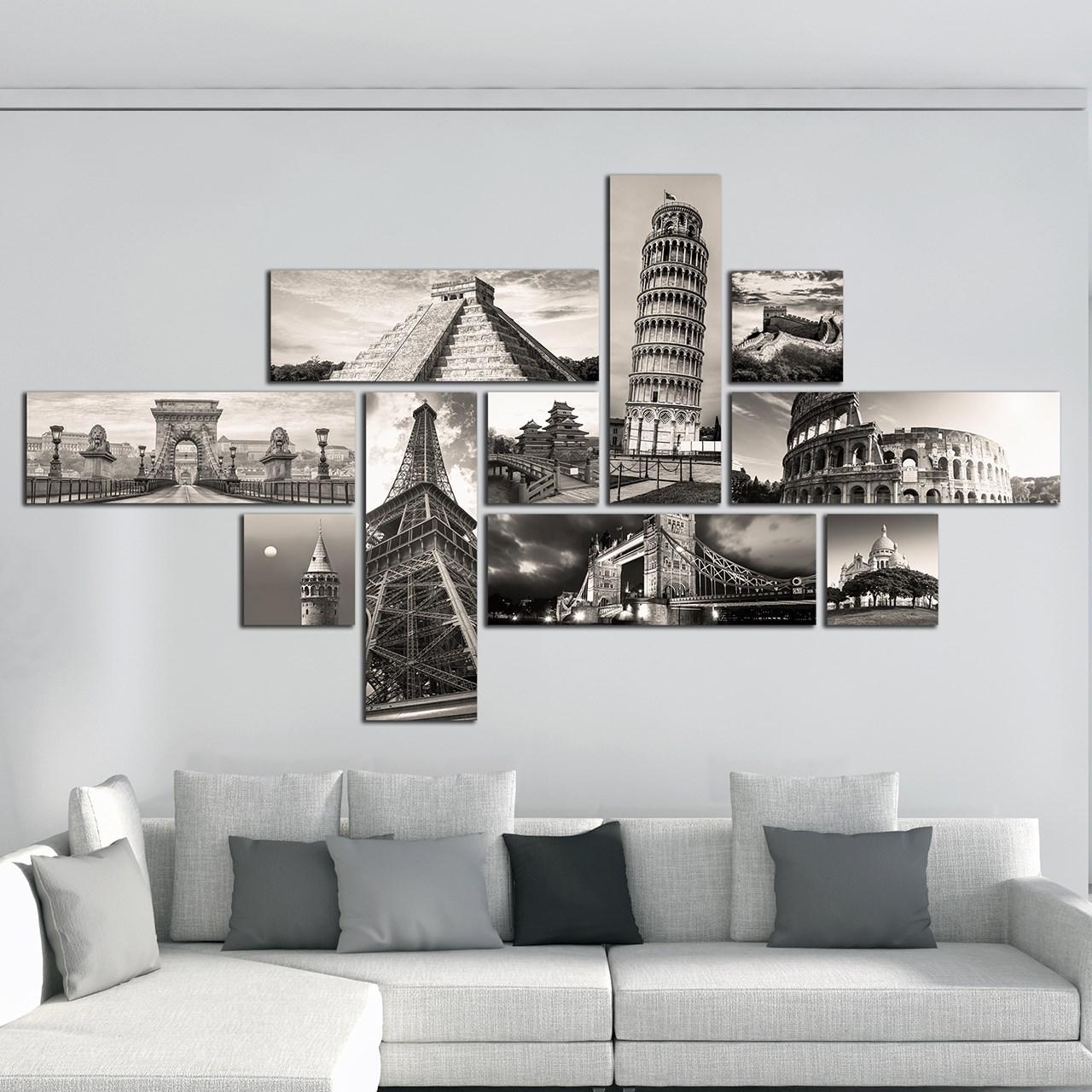 تابلو دیواری 10 تکه آفتاب کد TA5701