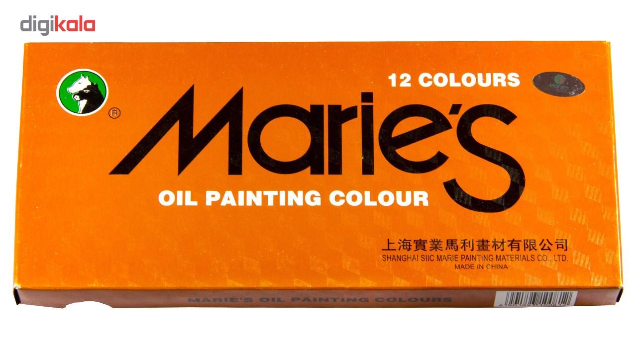 رنگ روغن 12 رنگ ماریس حجم 12 میلی لیتر main 1 2