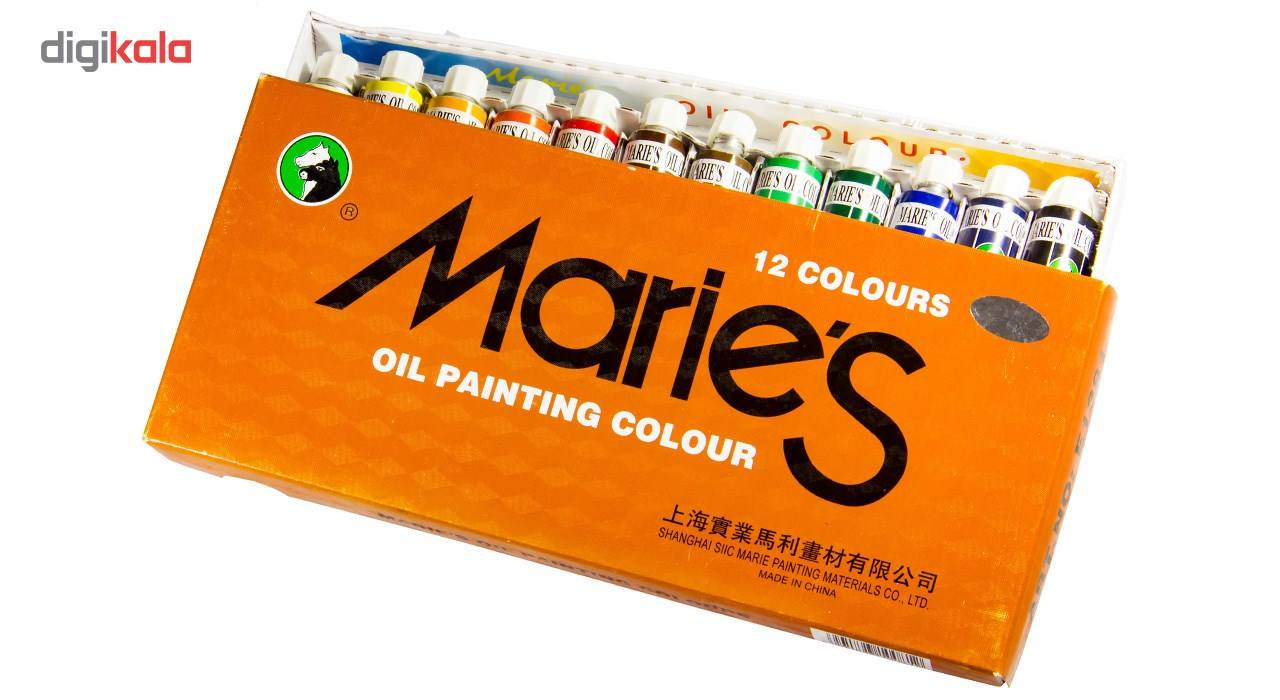 رنگ روغن 12 رنگ ماریس حجم 12 میلی لیتر main 1 5