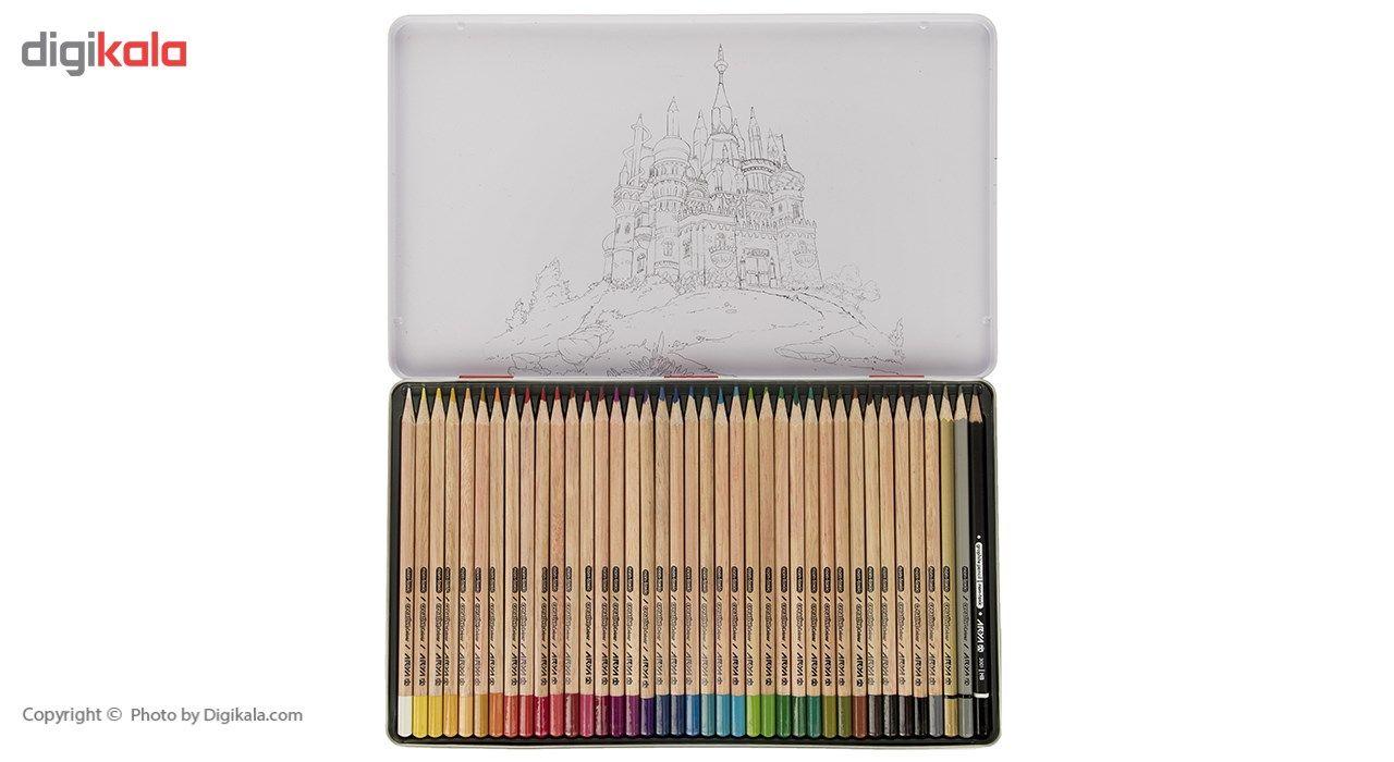 مداد رنگی 36 رنگ آریا مدل 3023 main 1 2
