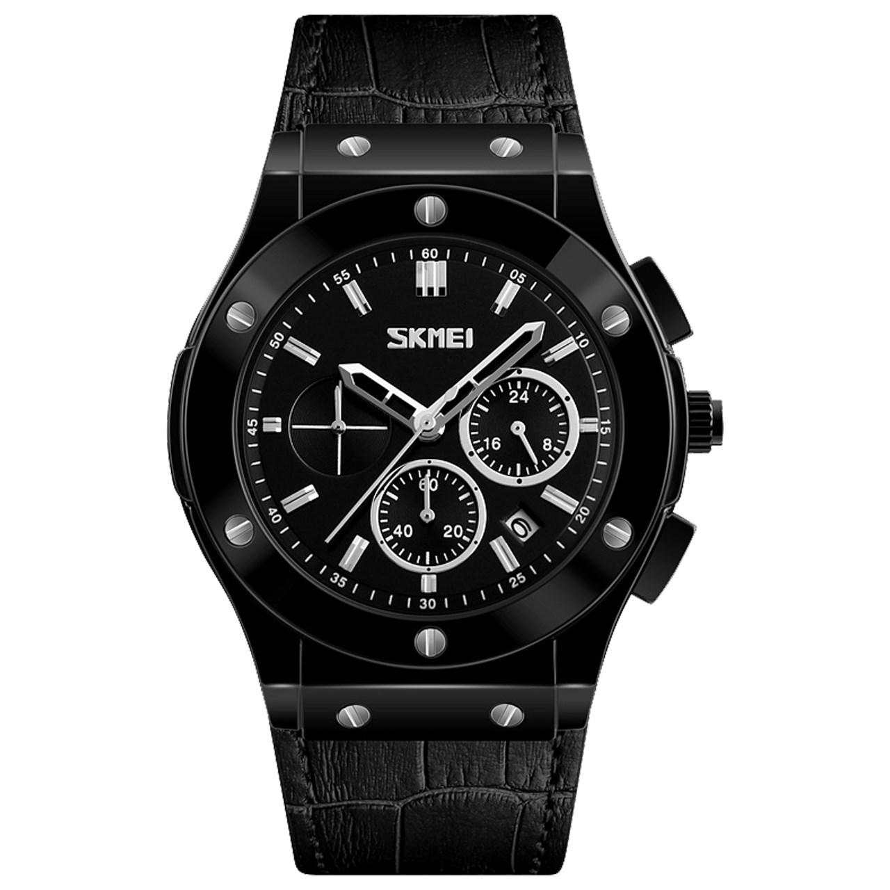 ساعت مچی عقربه ای مردانه اسکمی مدل S9157/Black 5