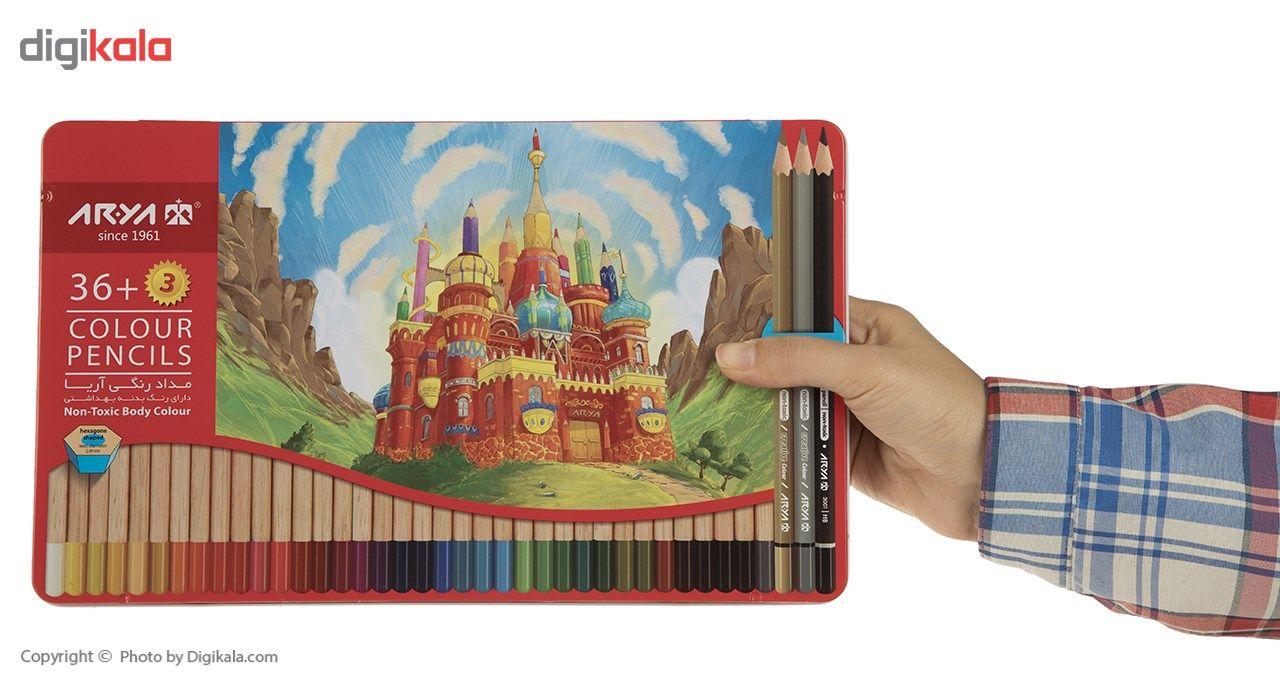 مداد رنگی 36 رنگ آریا مدل 3023 main 1 7
