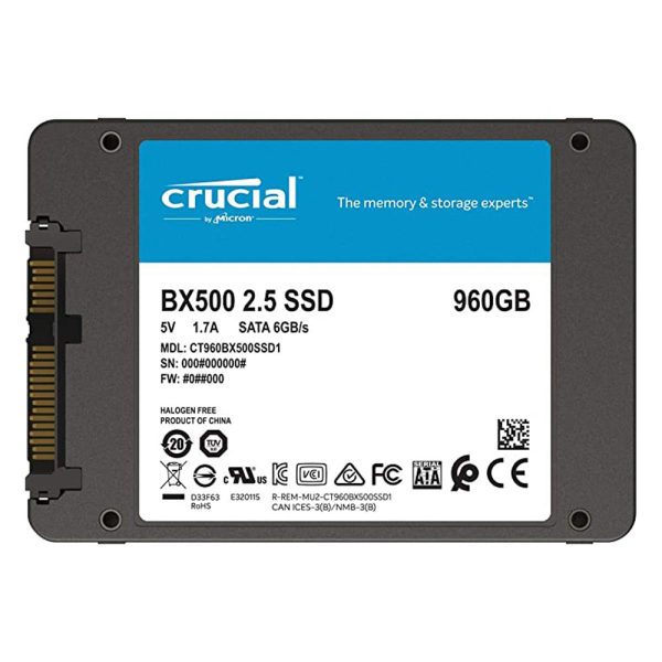 اس اس دی کروشیال مدل BX500 ظرفیت 960 گیگابایت