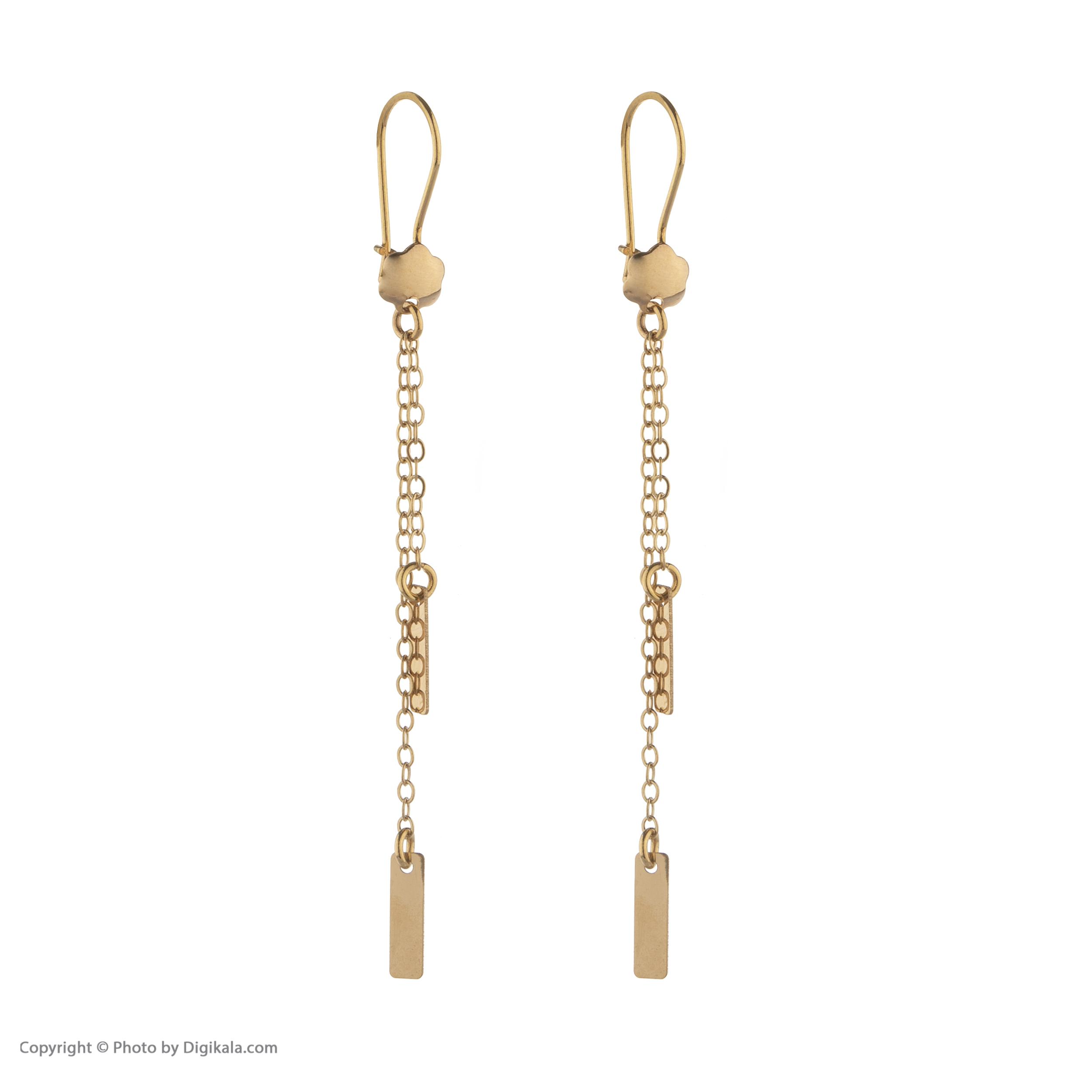 گوشواره طلا 18 عیار زنانه مدیسا مدل E2011
