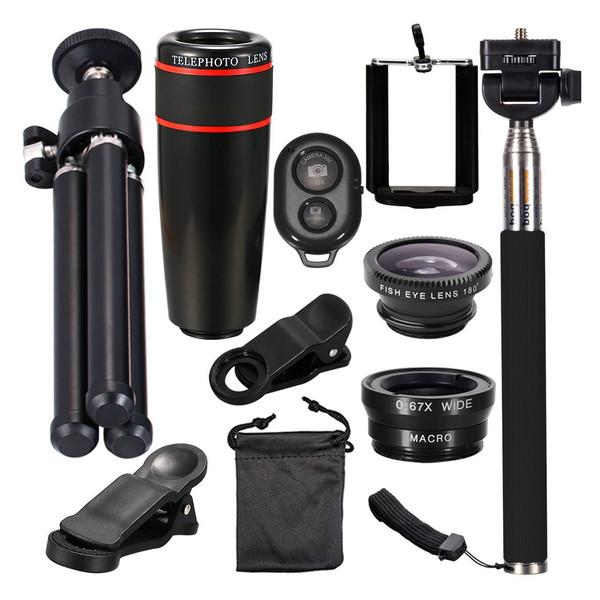 پک لنزهای کلیپسی،سه پایه دوربین و شاتر بلوتوث آس اسپشیال مدل T10