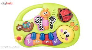بازی آموزشی هولی تویز مدل Finger illuminating And Learning Piano  Hulie Toys Finger illuminating A