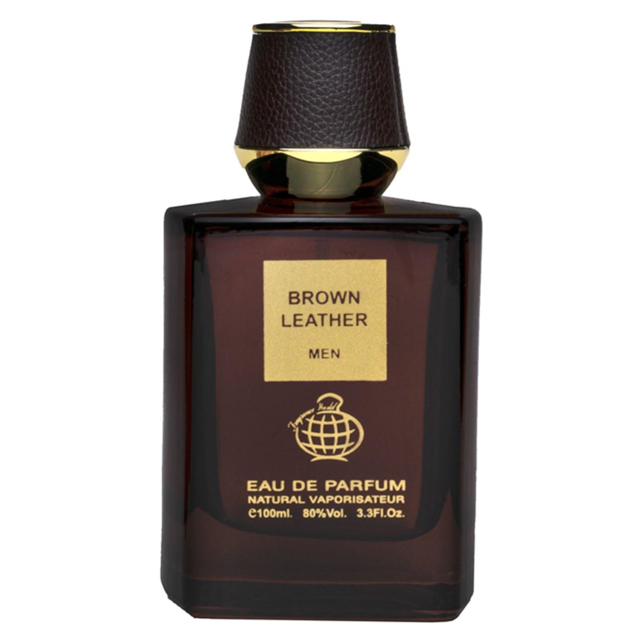 ادو پرفیوم مردانه فراگرنس ورد مدل Brown Leather حجم 100 میلی لیتر