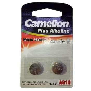 باتری سکه ای کملیون مدل AG10 Plus Alkaline بسته 2 عددی