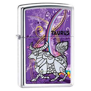 فندک زیپو مدل Zodiac Taurus کد 24932