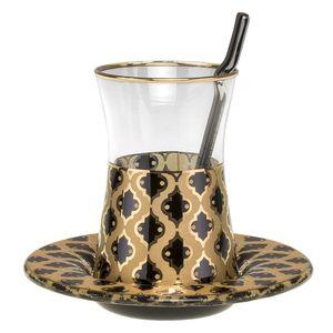 سرویس چای خوری 18 پارچه گلور گلس مدل 003