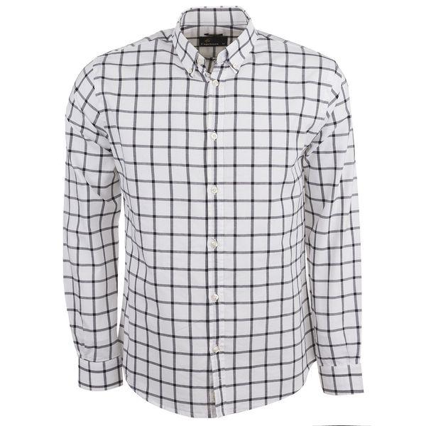 پیراهن نخی آستین بلند مردانه کاپریکورن مدل 50