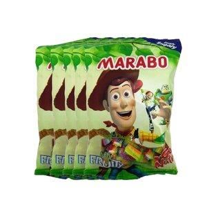 پاستیل لقمه ای شکری میوه ای مارابو - 50 گرم بسته 5 عددی