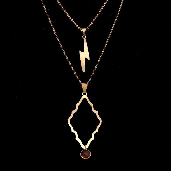 گردنبند طلا 18 عیار زنانه آمانژ کد D9318